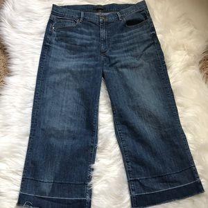 Ann Taylor size 12P wide leg crop jean